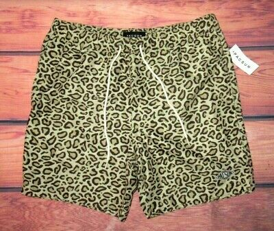 e67080fe1b3 Mens Pacsun Cheetah Leopard Animal Print Drawstring Lined Swim Board Shorts  S