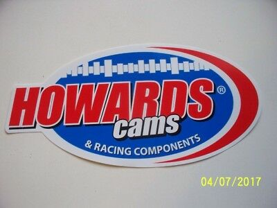 "ORIGINAL  RACING  DECALS  ""  HOWARDS  CAMS  ""   9.50 "" x  4.50 """