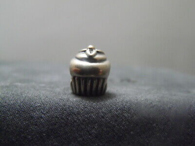 Authentic Pandora~790417~925 ALE~Sterling Silver~Cupcake~w/14K Cherry~Bead Charm
