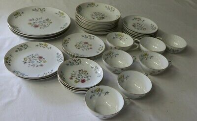 Flair Fine China BLOSSOM TIME 8145 Plates Bowls Saucers Cups 35 Pieces