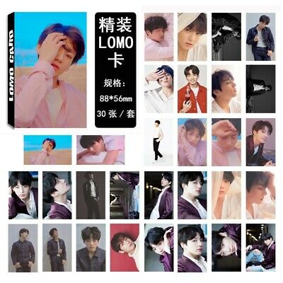 30pcs set Kpop JUNGKOOK BTS FAKE LOVE Lomo Card Collective Paper Photocards