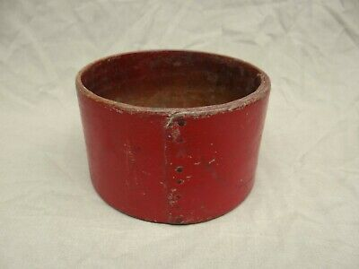 Early Antique Old Red Painted Wooden Pantry Measure Box