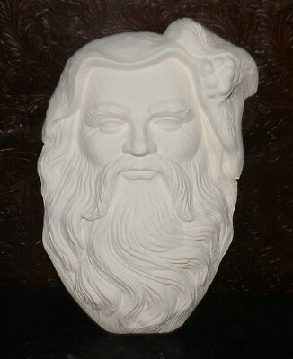 Christmas Santa Face Mask Wall Plaque or Wreath Insert *  Ceramic Bisque Ready t