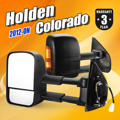 Pair Extendable Towing Mirrors For Holden COLORADO / COLORADO 7 2012-ON Black