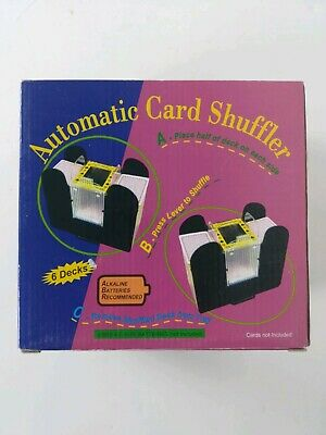 Casino 6 Deck Automatic Playing Card Shuffler Holdem Poker ~ Cards included!
