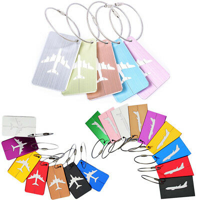 Travel Aluminium Luggage Tags Suitcase Label Name Address ID Bag Baggage Tag HOT