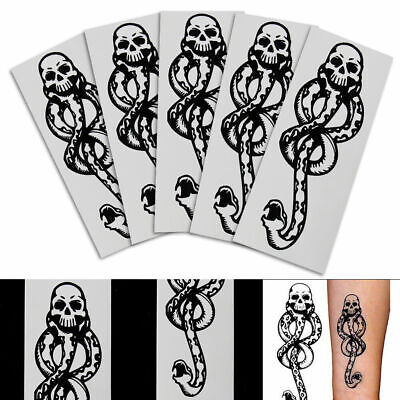 5pcs Harry Potter Death Eaters Dark Mark Tattoos Cosplay Accessories Party
