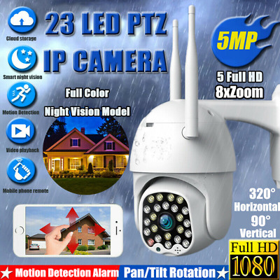 1080P HD Outdoor Waterproof WiFi PTZ Pan Security IP IR Camera Night Vision