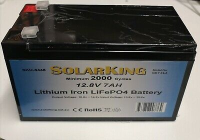 12V 7ah Lithium Ion LiFePo4 Deep Cycle Rechargeable Battery - Pick Up