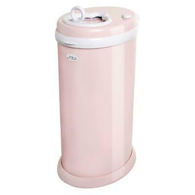 New Ubbi Newborn Baby Nappy Diaper Pail Bin - Light Pink Eco Friendly