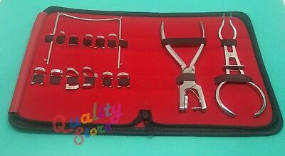 New Rubber Dam Starter Kit of 14 Pcs Surgical Dental Instruments With Bag