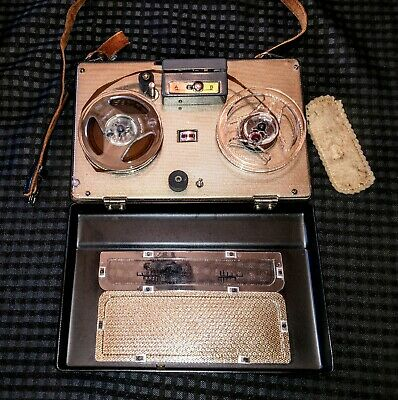 Realistic All Transistor Portable Reel To Reel Tape Recorder, Japan