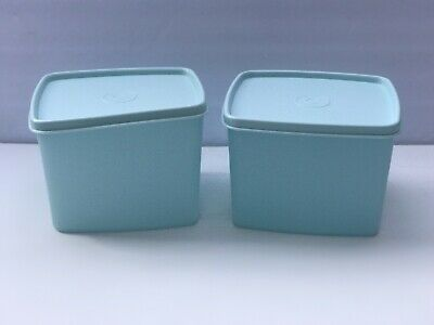 Tupperware Freeze It Plus Stain Guard SET 2 medium Square 800ml Containers - New