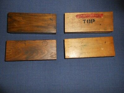Antique Letterpress Printers METAL TYPE in Four (4) Wooden Boxes