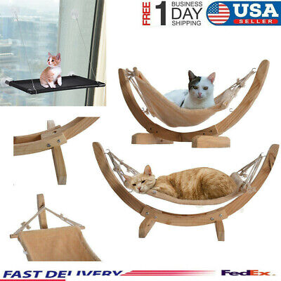 Cat Window Hammock Bed Seat  Pet Mounted Suction Cup Hanging Shelf Cushion