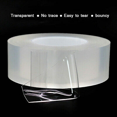 Magic Super Adhesive Transparent Nano Tape Roll Invisible Traceless Reusable 2mm