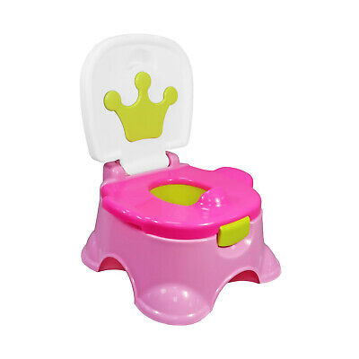 3 In 1 Baby Pink Potty Training Urinal Green Crown Fun Toddler Toilet Trainer