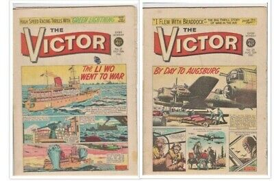 VICTOR # 21 + 25  Comics July/August 1961 scarce 2 issues