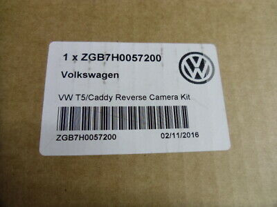Genuine New VW T5 & Caddy Rear View Camera Kit. OE Part Number ZGB7H0057200