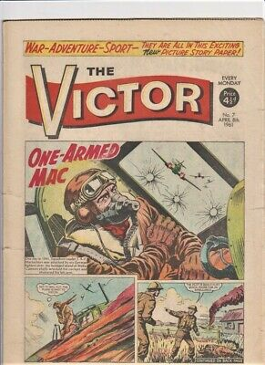 VICTOR # 7 Comic 8th April 1961 scarce issue