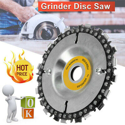 Angle Grinder Saw Blade Disc 22tooth Chain Saw Carving Wood Plastic 100/115mm