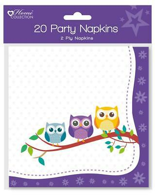 Pack of 20 Woodland Party 2ply Napkins Themes Birthday Party HNAN