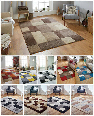 Modern Small Large Runner Carved Multi Coloured Boxes Budget Ocher Grey Area Rug