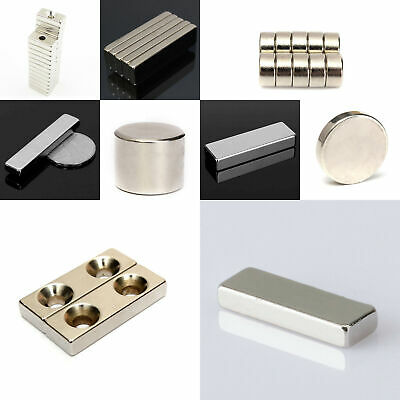 N35/N50/N52 Grade Super Strong Neodymium Magnet Round Disc Hole Rare Earth Prope