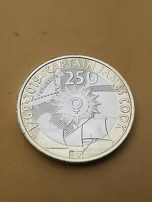 Captain Cook £2 two-pound coin Unc MINT NEW 2019