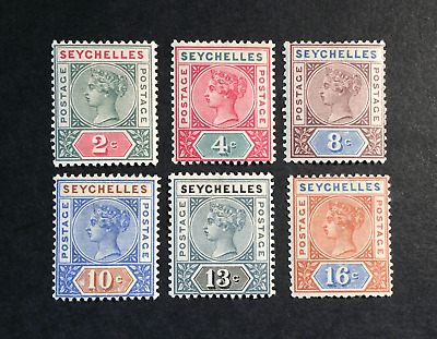 Seychelles 1890 Values To 16C Mm
