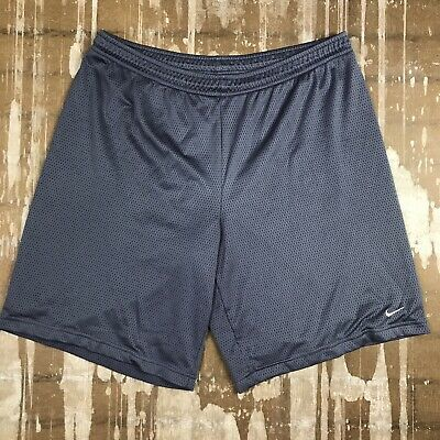 Vintage Nike Athletic Jersey Shorts Gray Polyester Mens XL Basketball VERY NICE!
