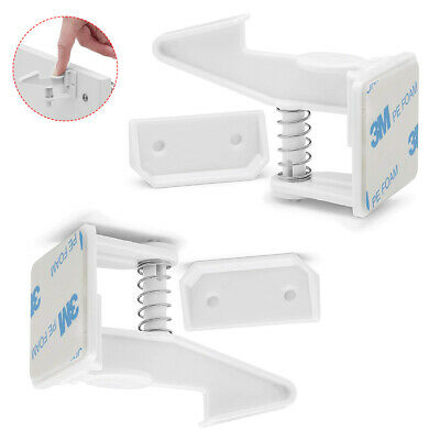 2x Baby Safety Cabinet Drawer Cupboard Invisible Lock Latch Kids Child Proof Kit