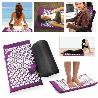 Acupressure Massage Mat Yoga Shakti Sit Lying Mats Pain Stress Soreness Relax w8