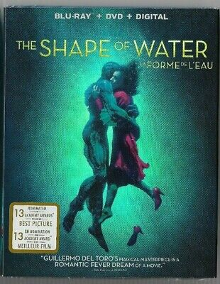 New Sealed BLU-RAY + DVD - THE SHAPE OF WATER - Also In French