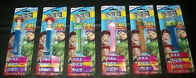 Disney Pixar Toy Story Pez Dispensers SEALED (6) Buzz Lightyear Woody Jessie Ham