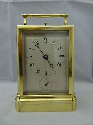 french carriage clock quarter hour repeater (1840)