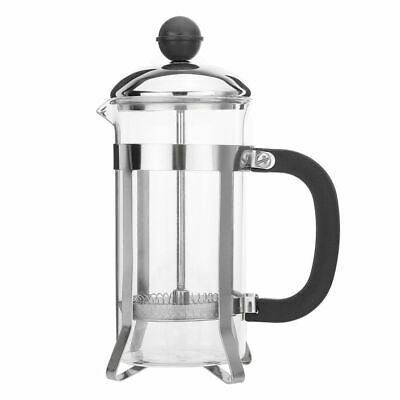 350ml Stainless Steel Glass French Press Filter Tea Coffee Pot Plunger Maker