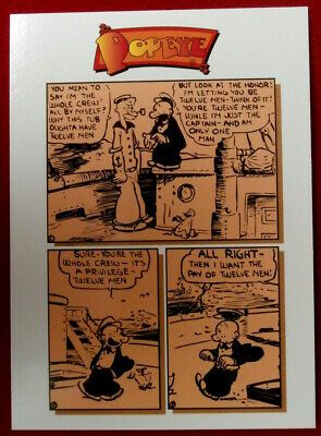 POPEYE - Individual Card #32 - MONEY TALKS - Card Creations - 1994