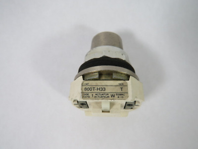 Allen-Bradley 800T-H33 2-Pos Cylinder Lock Operator No Contacts No Key  USED