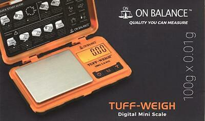 TUFF-WEIGH 100G X 0.01G Electronic Digital Jewelry Mini Pocket Weighing Scales
