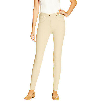 Ariat Olympia Ladies Knee Patch Womens Pants Riding Breeches - Beige All Sizes