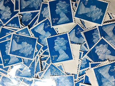 1000  2nd Class Unfranked Blue Security Stamps Off Paper no gum-CHEAPEST HERE