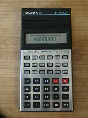 VINTAGE RETRO CALCULATOR: CASIO fx-82D FRACTION - good used condition with case!