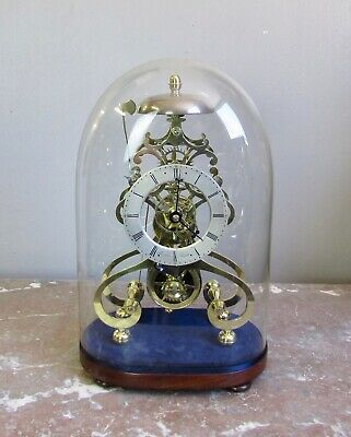 Good Antique Victorian Brass passing strike Fusee Skeleton Clock. Thos Lees Bury
