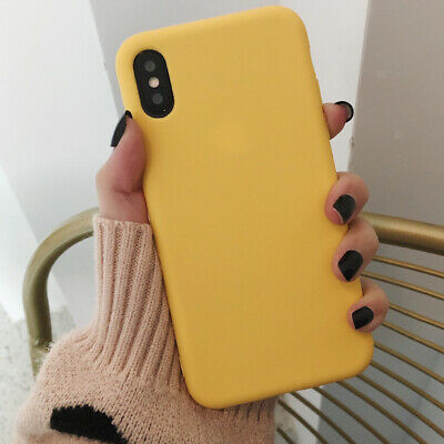 Original PU Soft Silicone Leather Slim Case Cover for iPhone 7/8 Plus Yellow