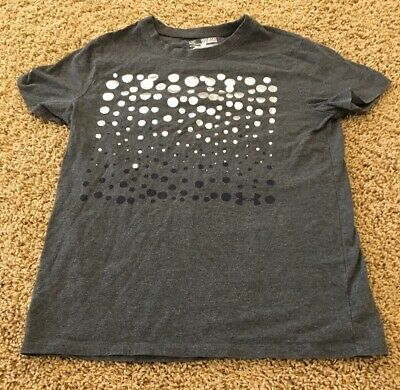 Girls Under Armour grey with silver and navy design T-Shirt  SizeYMDyouth medium