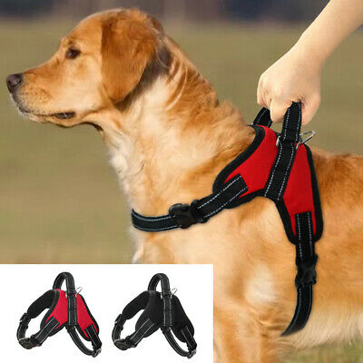 Reflective No Pull Dog Harness Soft Padded with Handle Adjustable for Pitbull