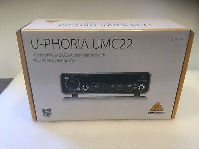 Behringer U-PHORIA UMC22 2x2 USB Home Studio Audio Recording Interface