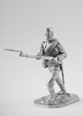 Private Russian Army, 1877. Tin toy soldier 54mm