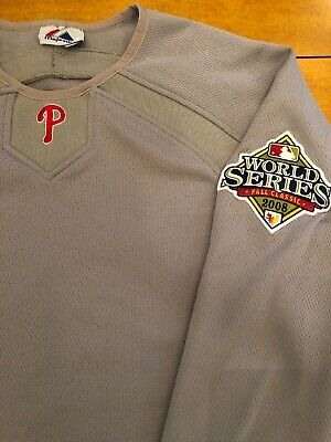 Philadelphia Phillies Majestic Thermabase 2008 World Series Authentic Pullover